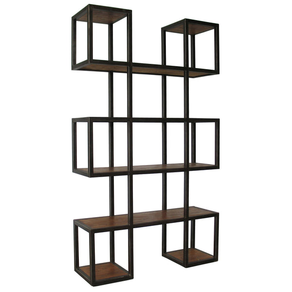 Block Bookcase w/ Metal