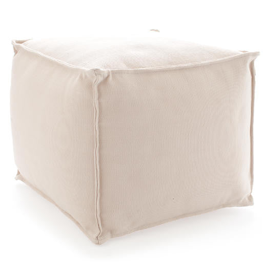 Fresh American Solid Ivory Pouf