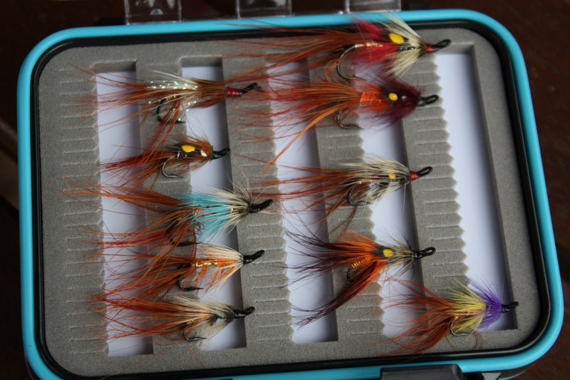 Boxed Double Salmon Shrimp Fly Set x 10pcs