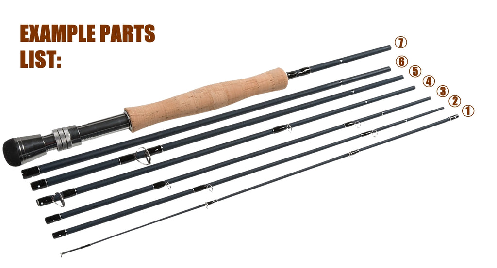 Spare Parts for the Oscar Travel 5 Piece Travel Fly Rod