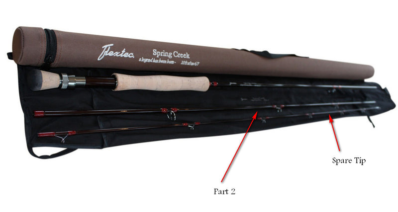 Spare Parts for the Spring Creek 3 Piece Fly Rod