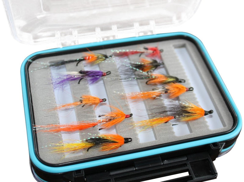 Boxed Allies Shrimp Salmon Fly Set x 10pcs