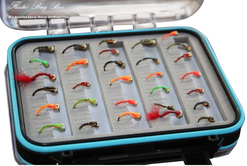 Boxed Expoxy Skinny Goldhead Fly Set x 30pcs