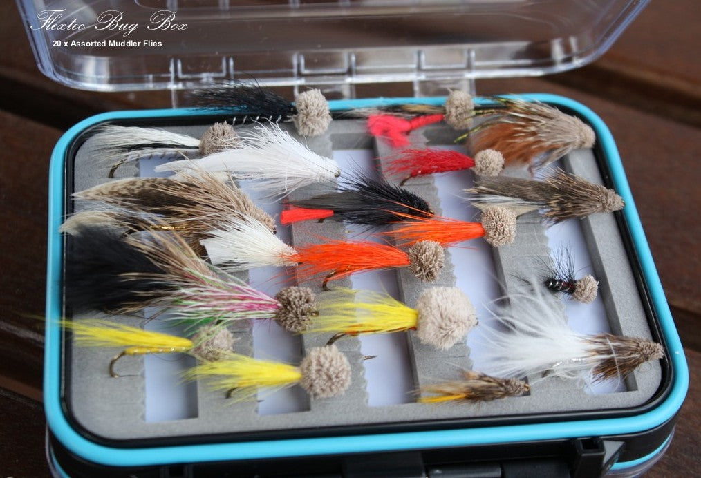 Boxed Muddler Fly Set x 20pcs