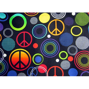 Peace Sign Multi Color Sleeping Bag  (YOUTH SIZE ONLY)