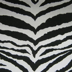 Fabric/Black Zebra Thin Stripes