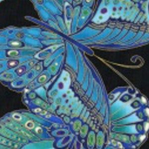 Fabric/Blue Butterflies