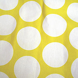 Fabric/Yellow and White Dots