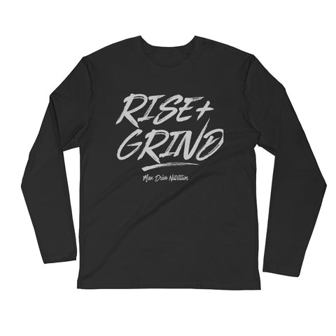 Long Sleeve Fitted Crew Max Drive Rise & Grind