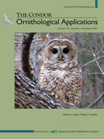 THE CONDOR: Ornithological Applications