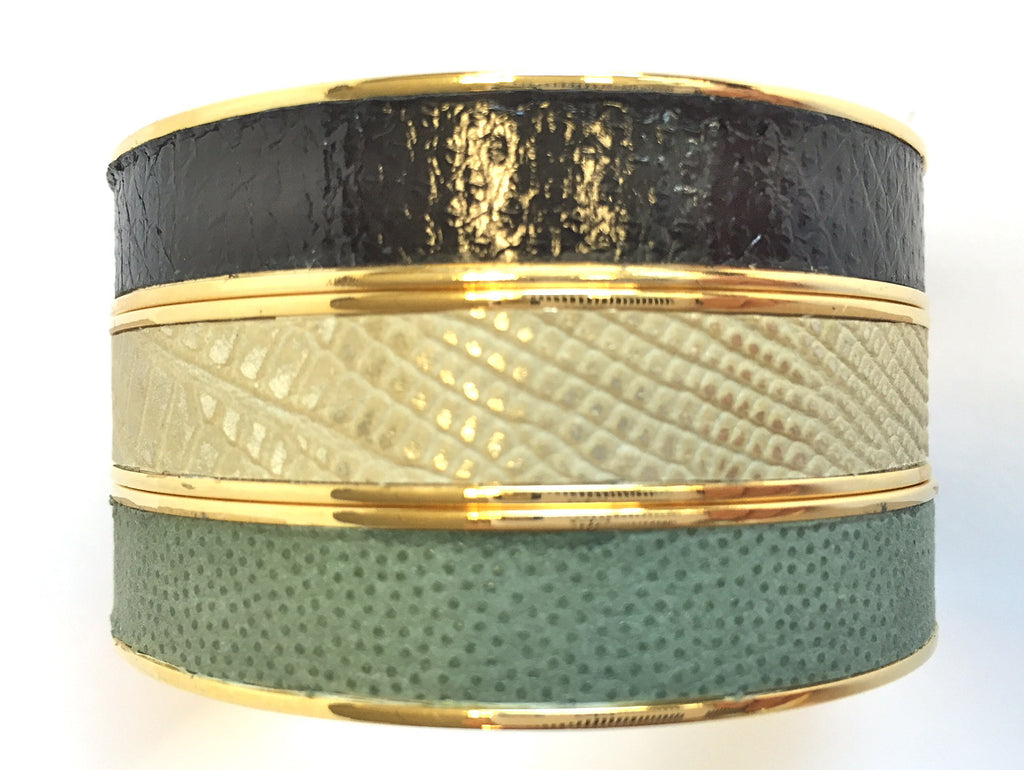 Kate Leather Bangle 1/2""