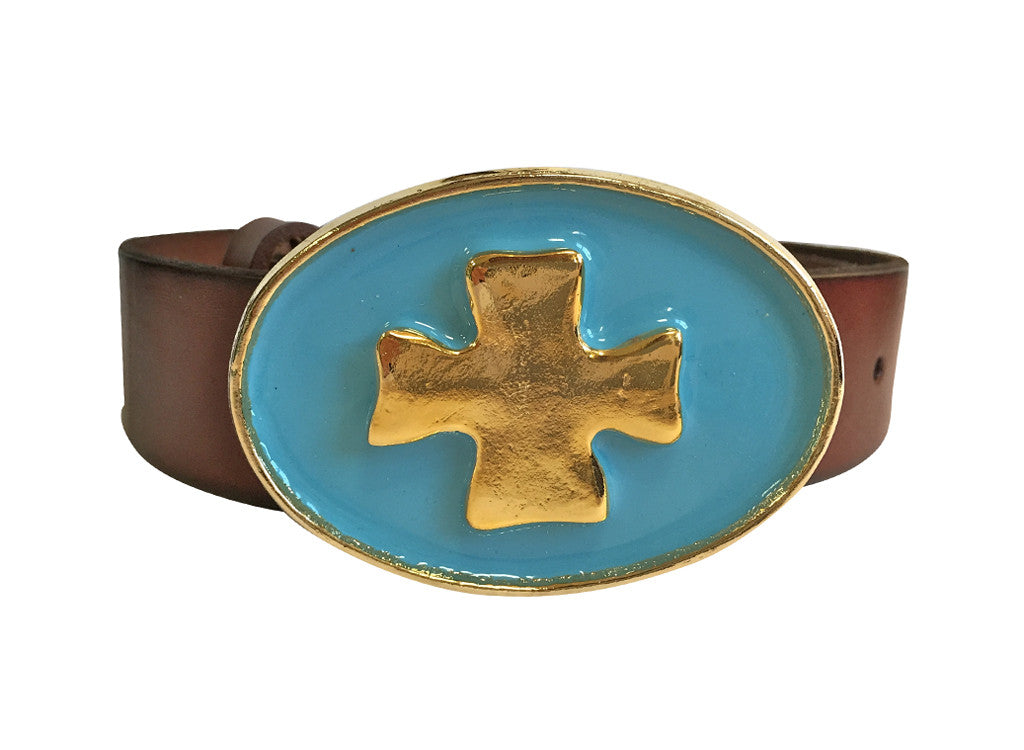 Enamel Cross Buckle