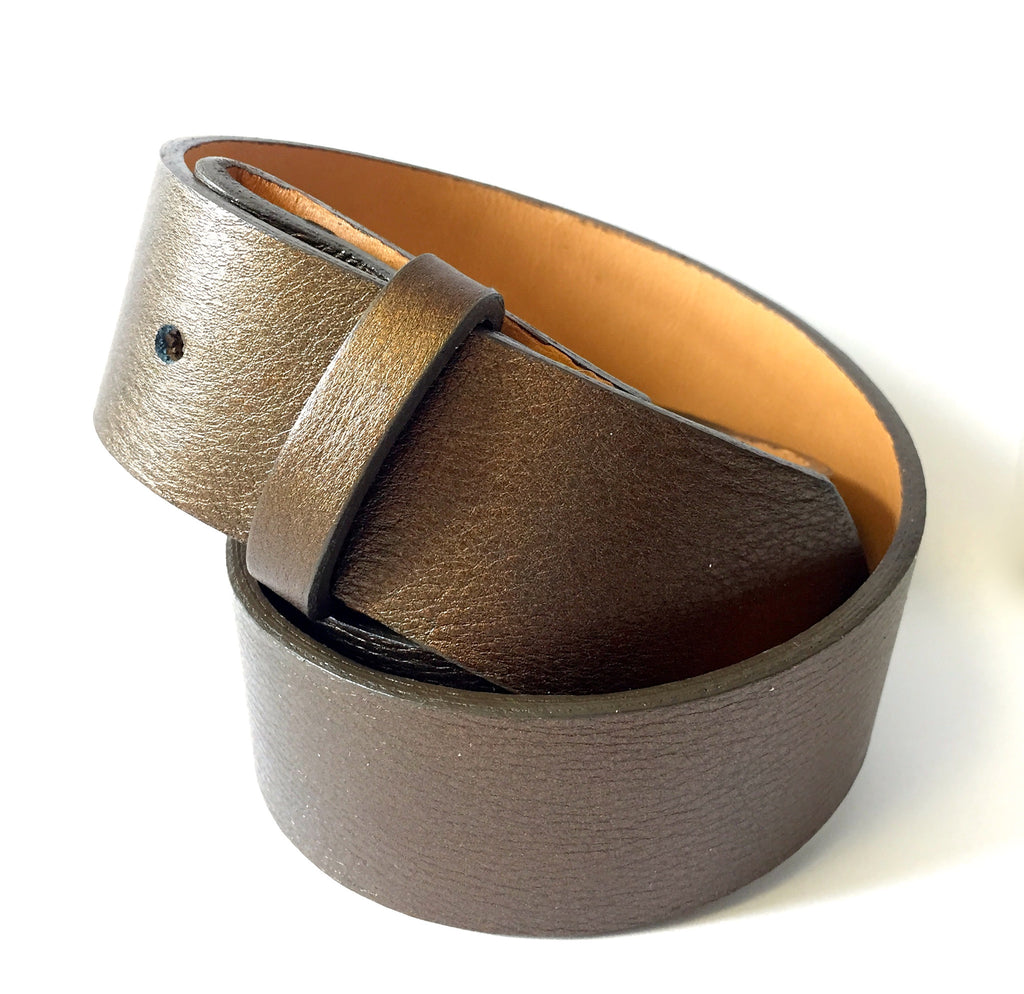 Bronze Metallic Leather Strap