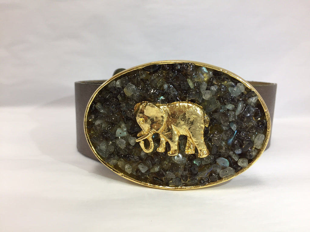 Small Gold Elephant Buckle