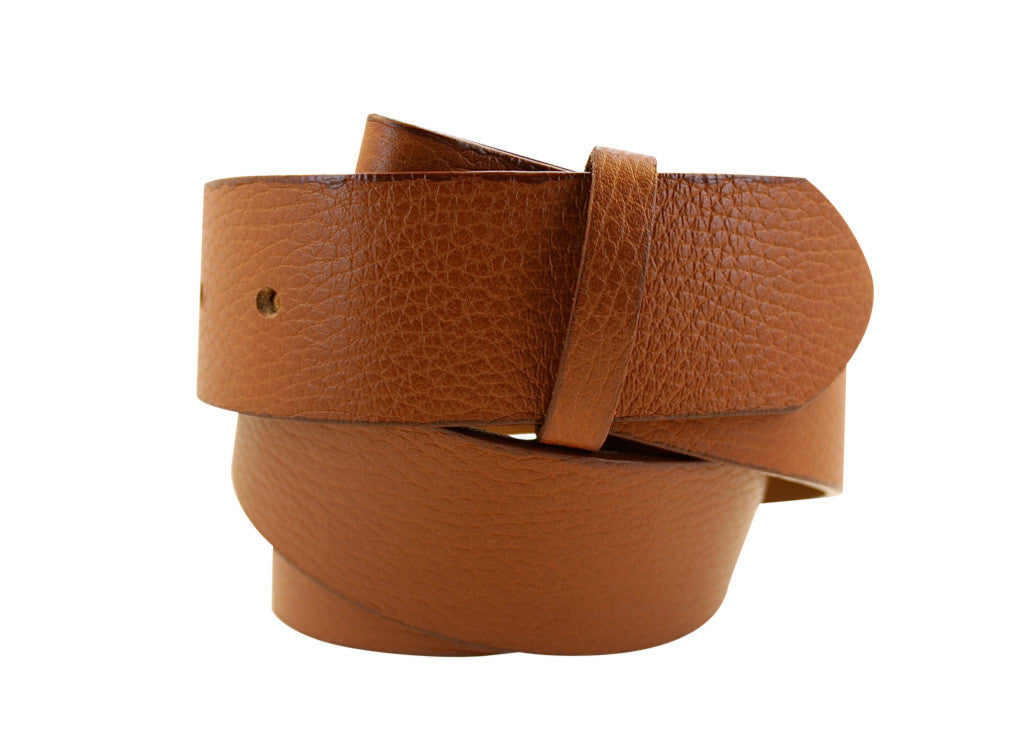 Cognac Pebble Leather Strap
