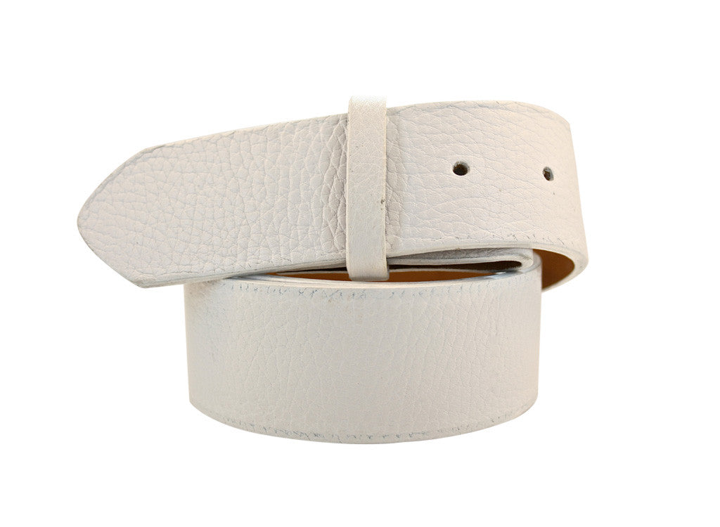 White Pebble Leather Strap