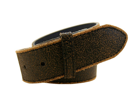 Distressed Black Leather Strap