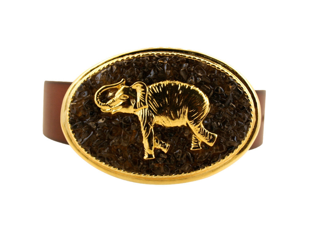 Large Oval Elephant Buckle