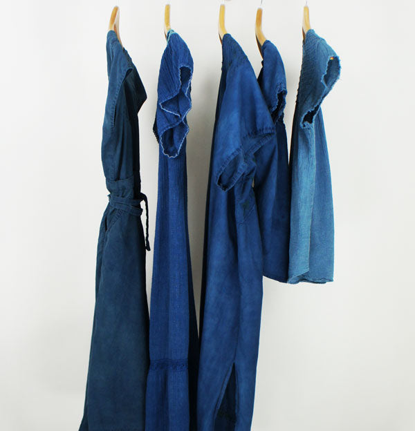 Hand Dyed Natural Indigo Vintage Dress