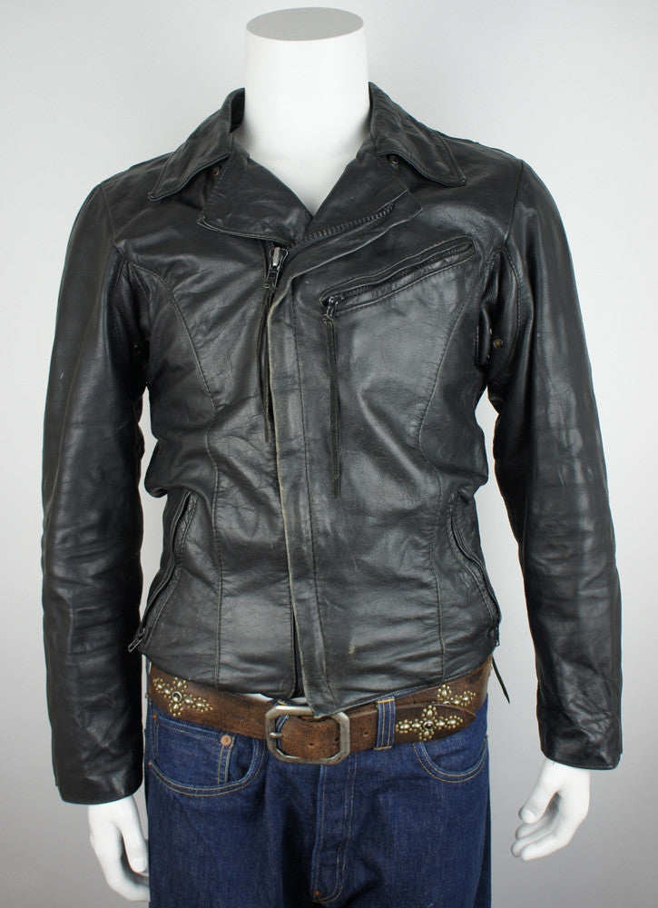 Vintage Leather Biker jacket