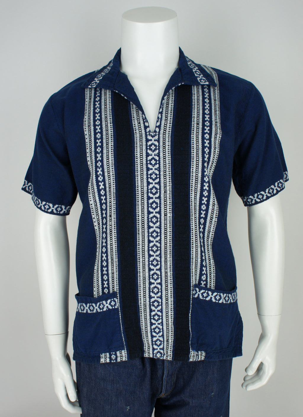 vintage ethnic Greek embroidered pullover shirt medium