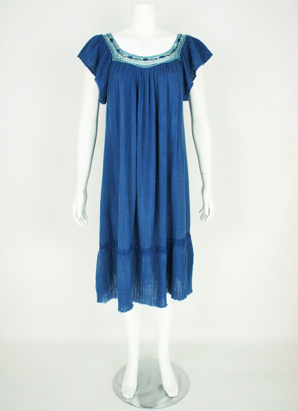 Indigo Vintage Boho Hippy Dress