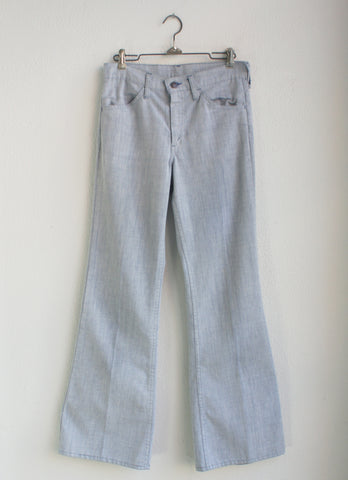 vintage 70's Levi's 646 light denim bell bottoms 28 x 32