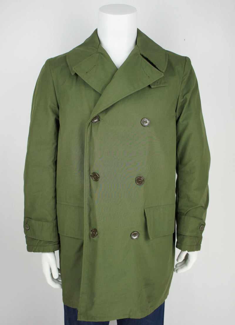 40's WWII mackinaw coat with chin strap size medium