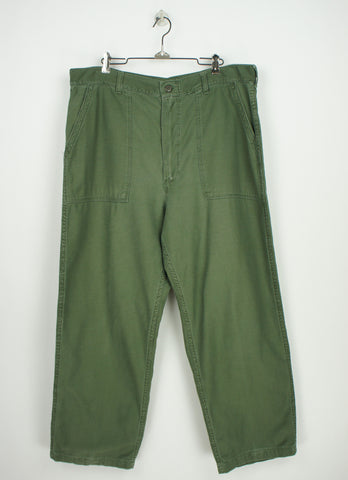 vintage cotton utility pants size 37 x 29 1966