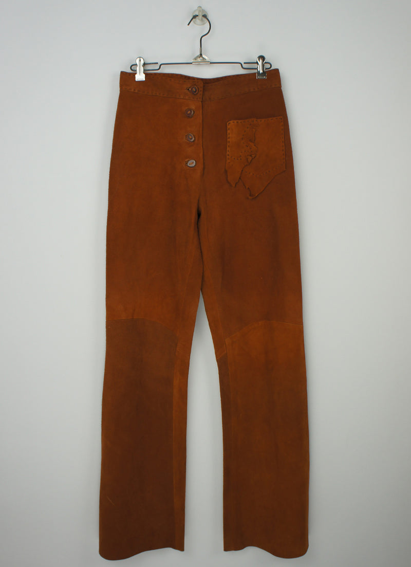 Leather Suede Bell Bottoms