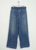 vintage 40's US Navy sailor indigo denim work pants 29x31