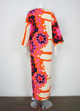 1960s Psychedelic Kaftan Dress
