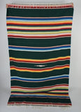 vintage Mexican striped blanket