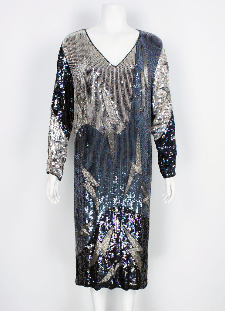 Vintage Lightning Sequin Dress from India