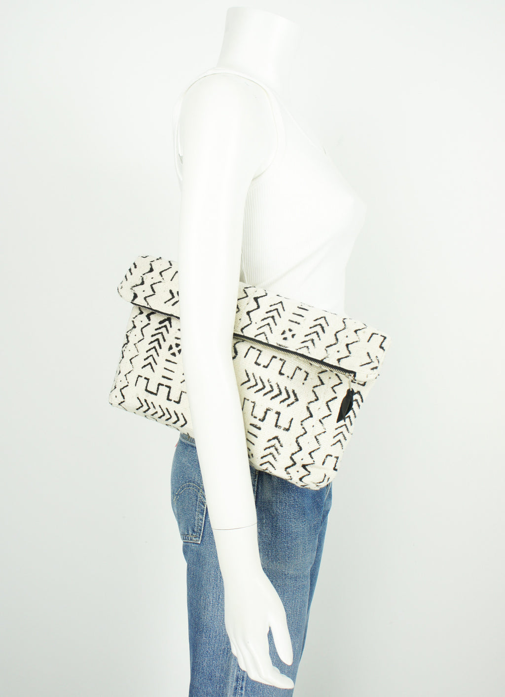 Mudcloth Slouch Clutch