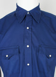 Navy Blue Western Shirt
