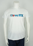 vintage 1970's I Love New York Big Apple glitter heat transfer size L/XL