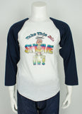 vintage 1970's baseball raglan t-shirt iron on heat transfer size large