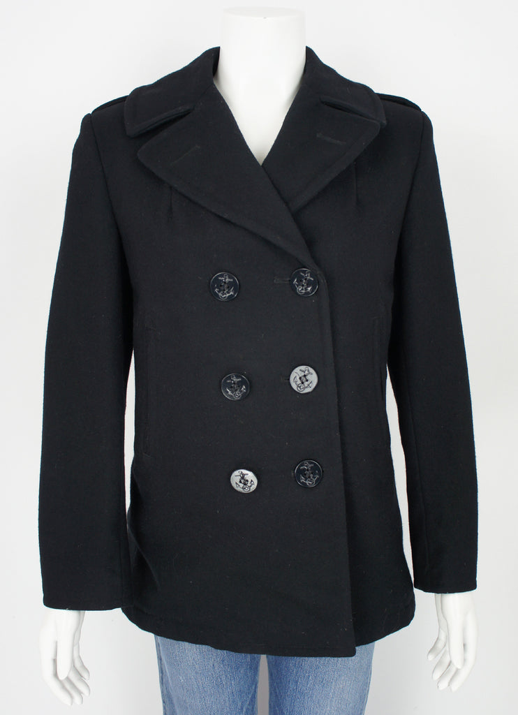 vintage ladies US Navy wool pea coat size small/medium