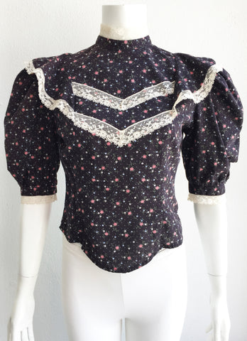 Vintage Prairie Blouse with Puff Sleeves by Eber