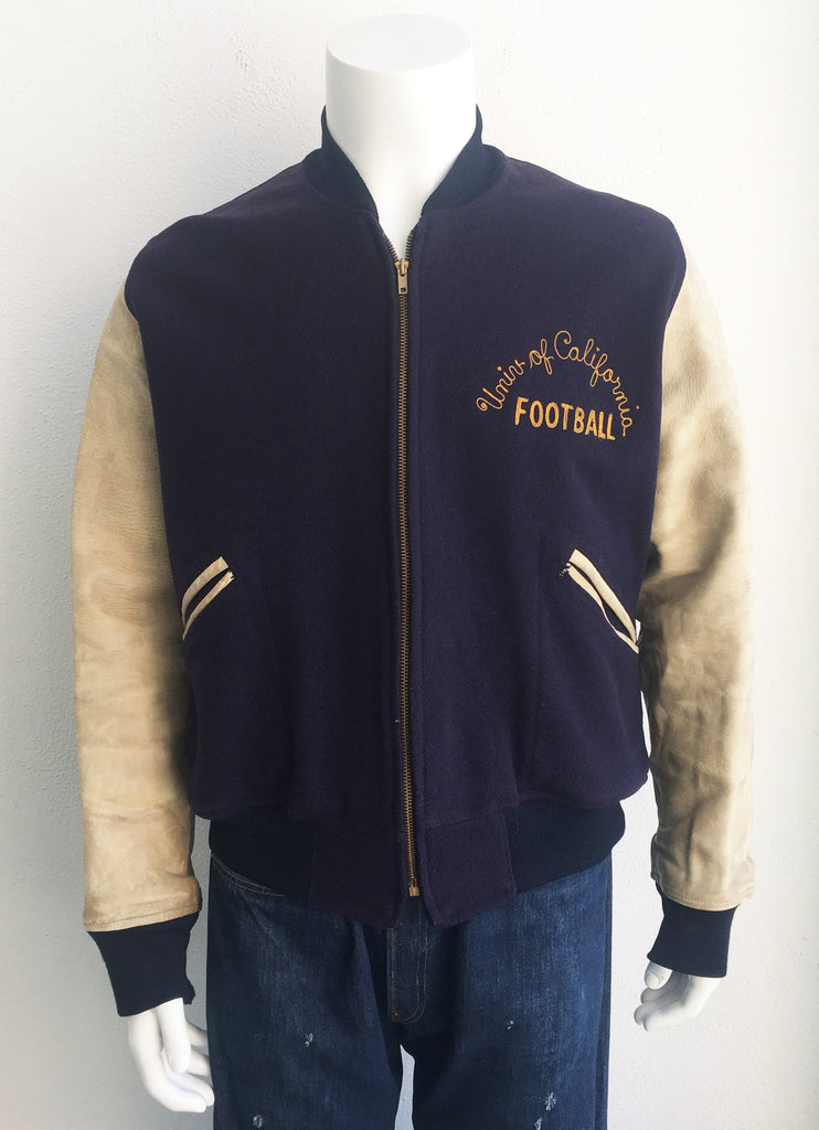 vintage 50's University of California Letterman Jacket size Large