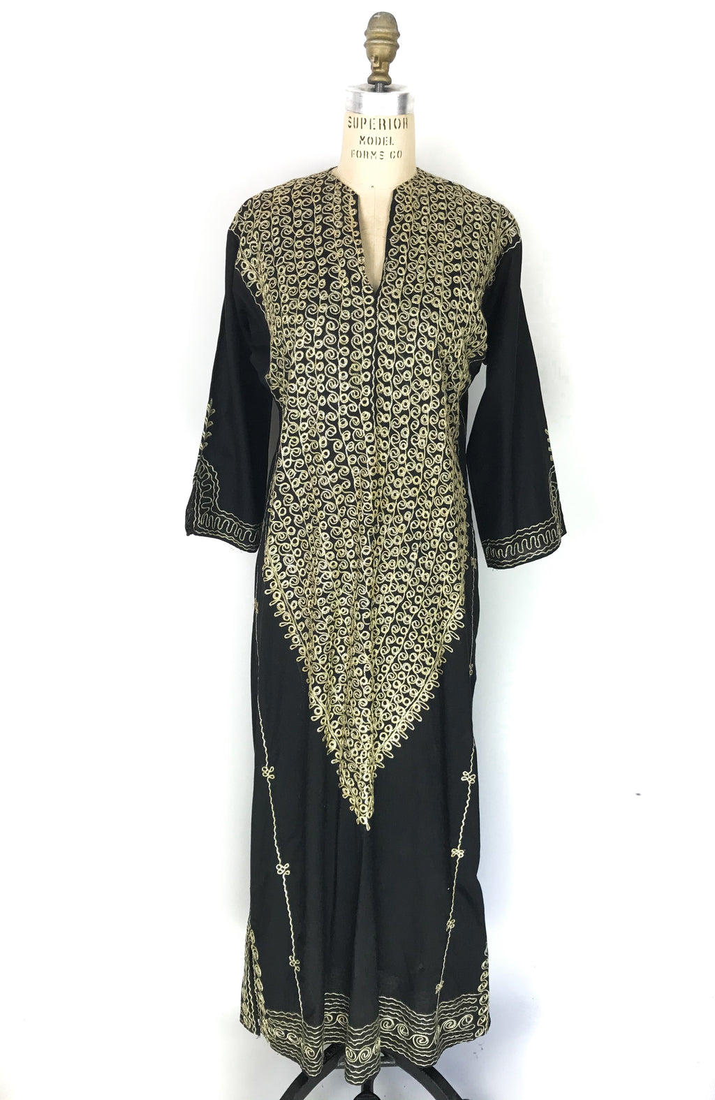 Gold Embroidered Caftan