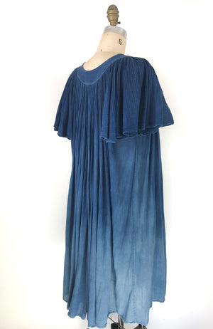 Indigo 1970s Gauze Dress