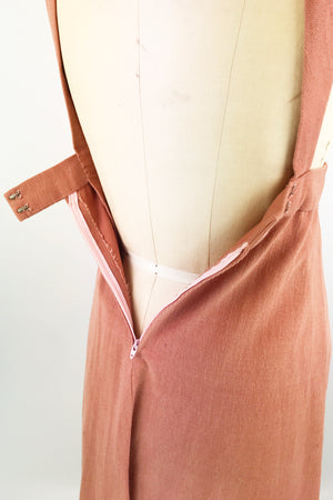 1970s Corduroy Pinafore Drerss