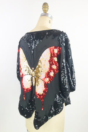 Butterfly Sequin Top