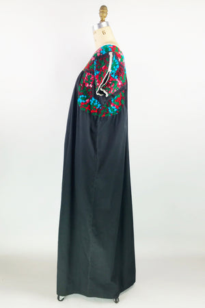 Embroidered Mexican Caftan Dress