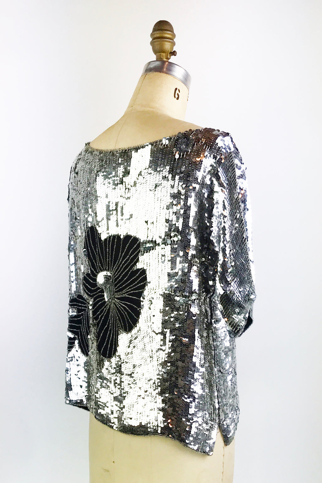 Flower Sequin Top