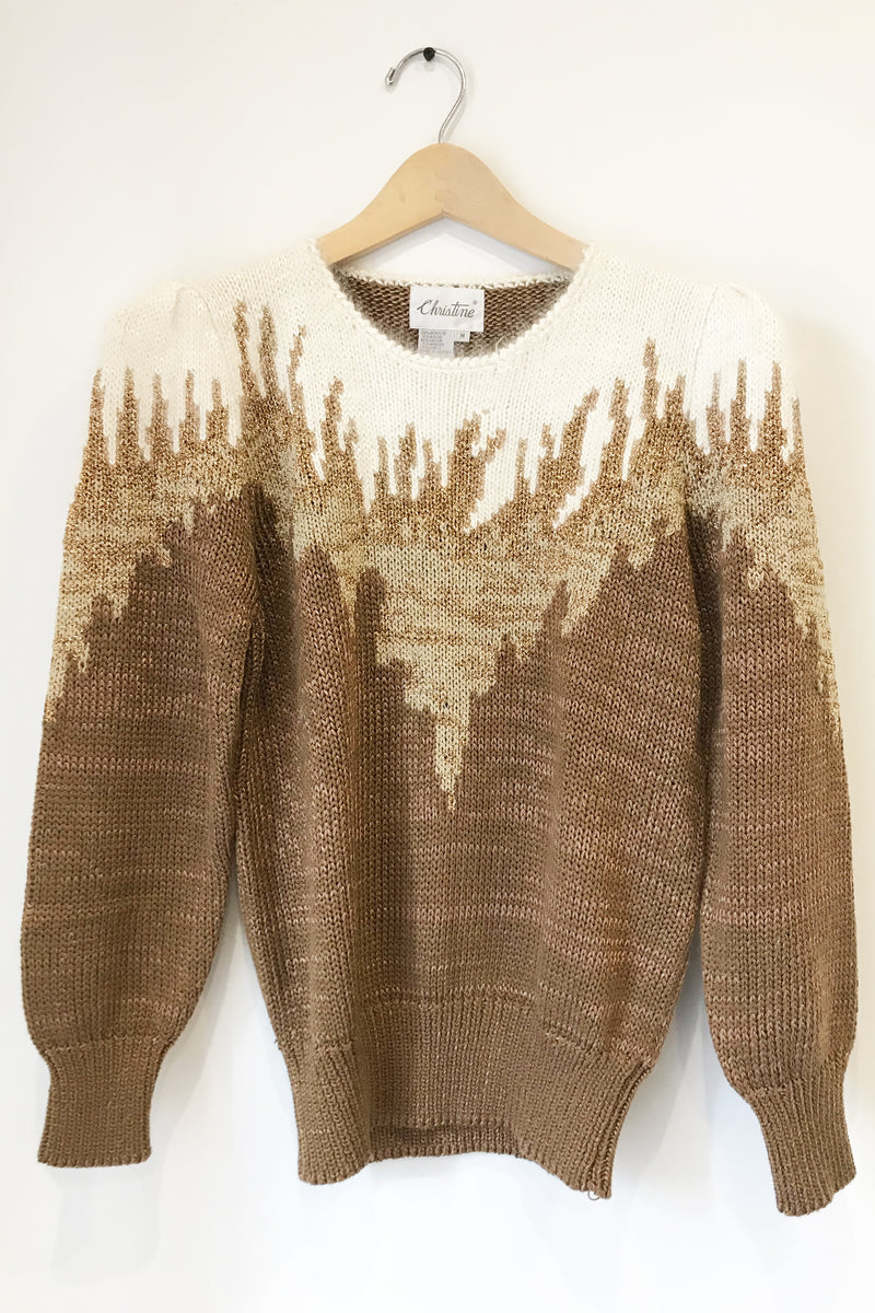 Vintage Gold Lurex Sweater