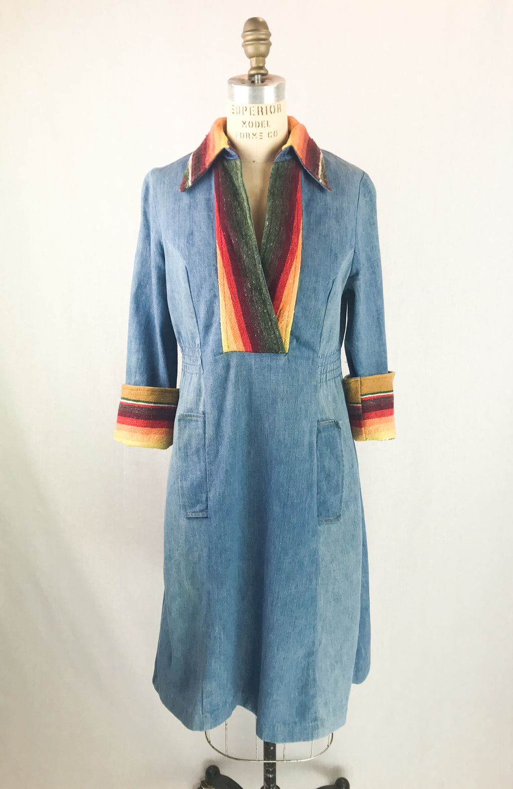Serape Denim Dress
