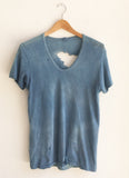 Vintage Distressed Hand Dyed Indigo T-Shirt size Medium